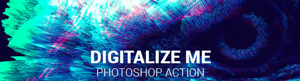 Artistic Glitch Photoshop Action - 2