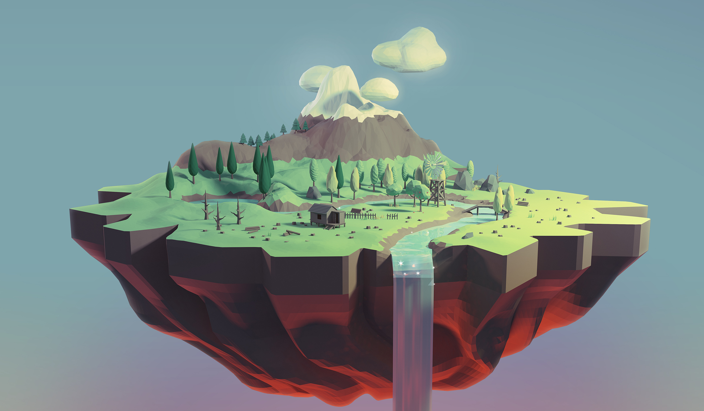 portada slider low poly world