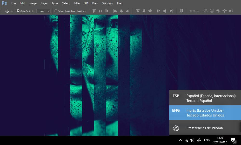 teclado en ingles par acciones de photoshop