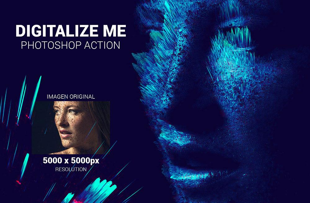 acción profesional de photoshop Digitalize me