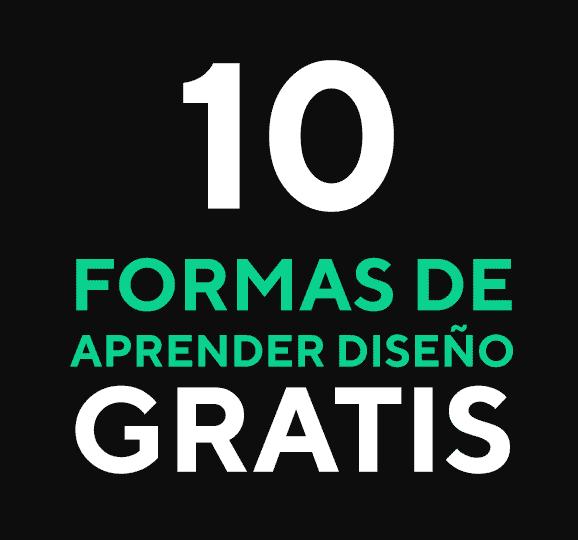 portada 10 formas de aprender diseño gratis