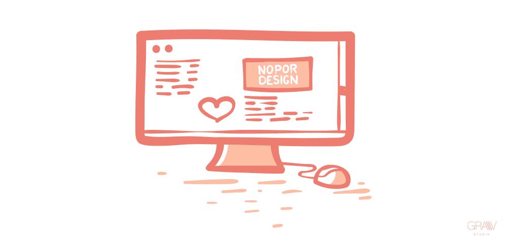dibujo pantalla pc nopor design