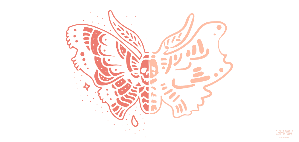ilustracion mariposa polilla